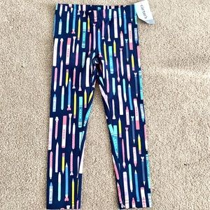 Carters NWT pencil crayon leggings toddler girl